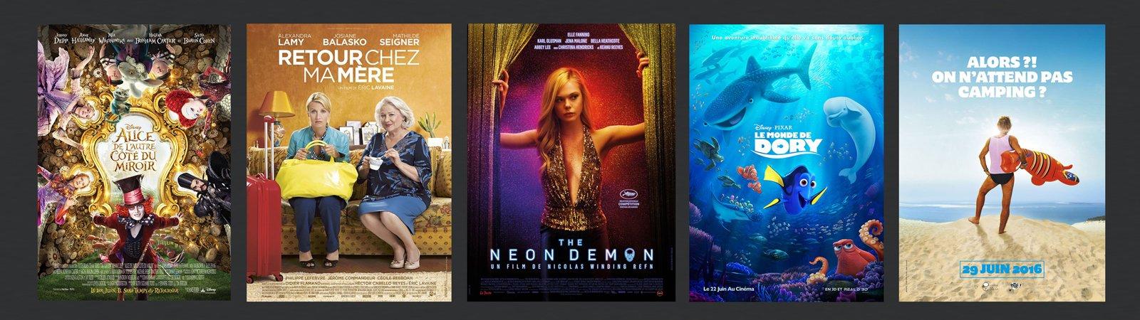 Affiches des sorties du mois de juin 2016