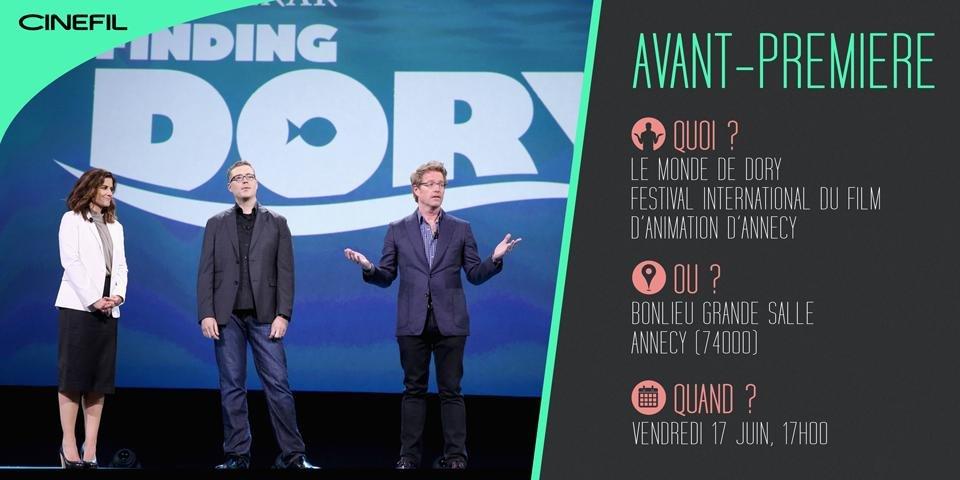 Le Monde de Dory en avant-première à Annecy, en présence du réalisateur