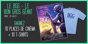 Illustration du jeu concours Gagnez vos places de cinéma et vos t-shirts pour LE BGG - LE BON GROS GÉANT