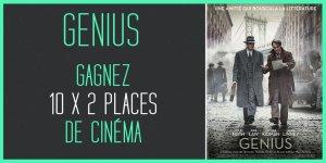 Illustration du jeu concours Gagnez vos places de cinéma pour le film GENIUS