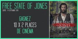 Illustration du jeu concours Gagnez vos places pour le film FREE STATE OF JONES, avec Matthew McConaughey