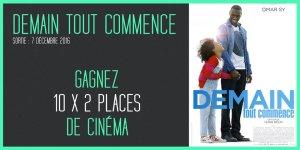 Illustration du jeu concours Gagnez vos places pour Demain Tout Commence, avec Omar Sy !