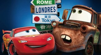 background picture for movie Cars 2
