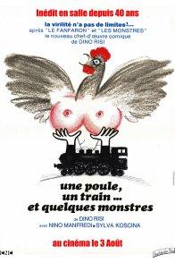 Affiche du film : Une Poule, un train... et quelques Monstres