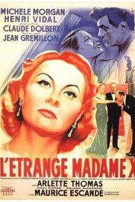 Affiche du film : L'etrange madame x