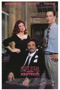 Affiche du film : Tante julia et le scribouillard